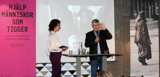 Lennart på seminarium om tiggarna