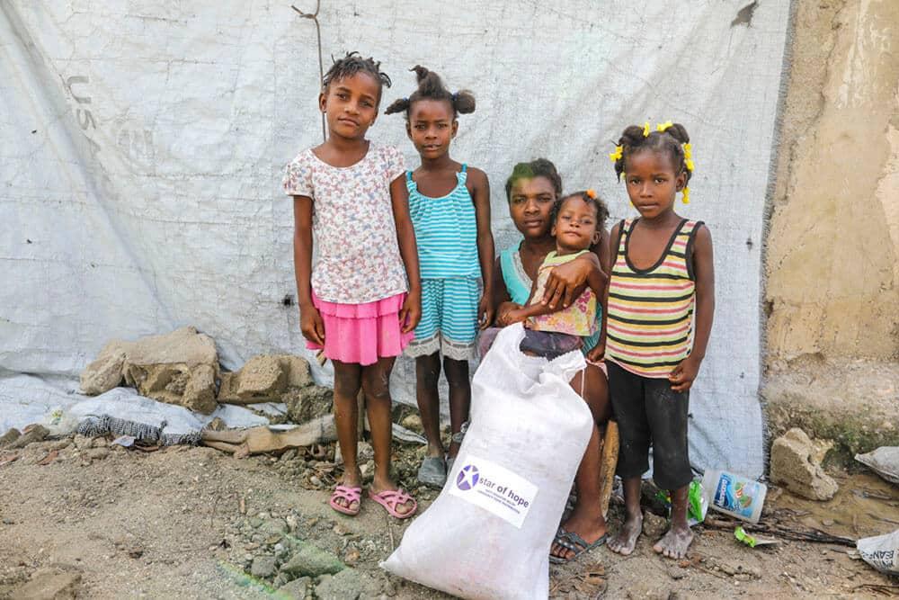 Shelmina och hennes familj har fått hjälp