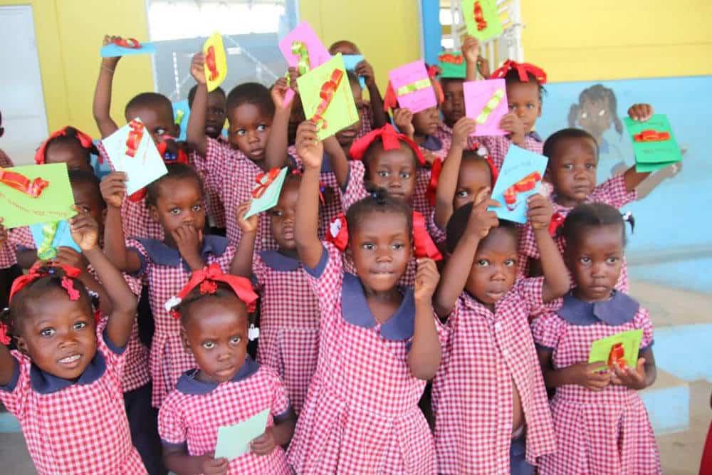 En morsdagshälsning från barnen i Jeanton