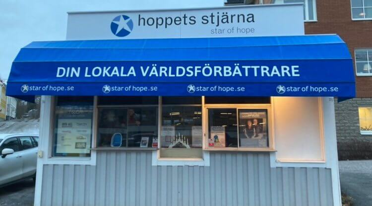Hoppets Stjärna inviger Melinders kiosk